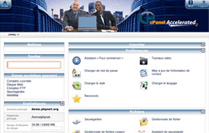 Interface cPanel